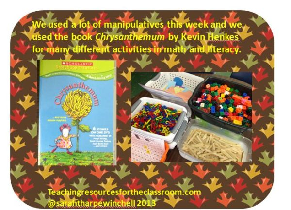 Chrysanthemum and Math Manipulatives
